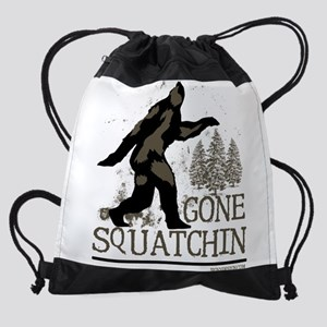 Sasquatch Gone Squatchin Drawstring Bag